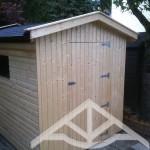 Bedachung Gartenhaus mit Bitumendachschindeln