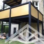 Lärche Brettschichtholz Balkon